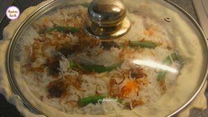 বাংলাদেশী কাচ্চি বিরিয়ানি __ Bangladeshi Traditional Kacchi Biryani __ Authentic Mutton Dam Biriany_Moment moida diya bondho kore dite hobe