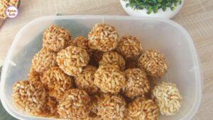 মুড়ির মোয়া __ Bangladeshi Murir Moa_Naru Recipe _ Murmura Laddu-Puffed Rice Laddu_